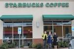 Starbucks Selfie wide shot